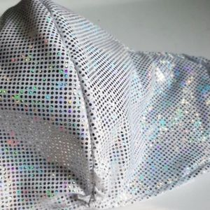 Silver Sequin Mask w/ filter pocket